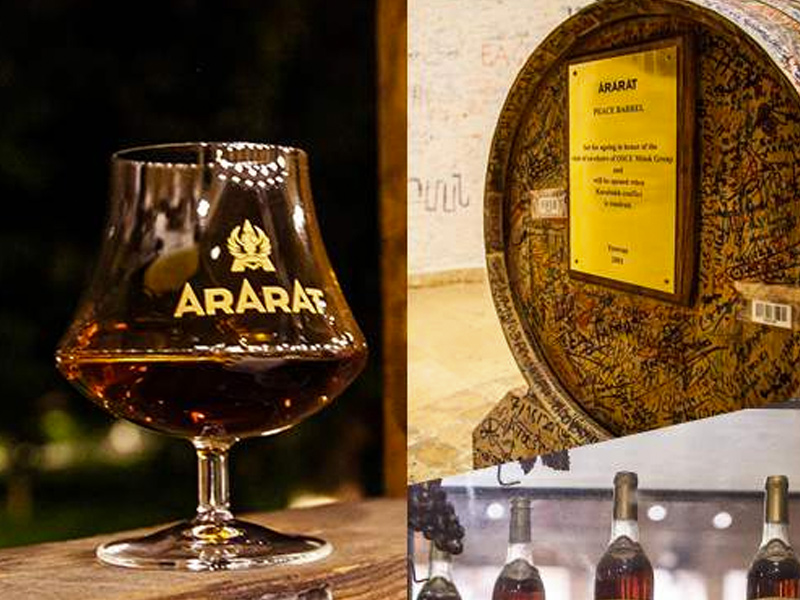 Wine brandy tour, Armenia