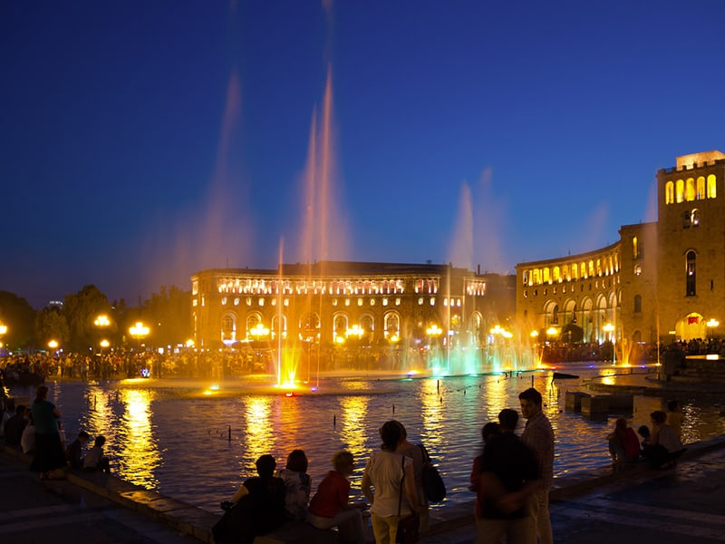 Night time in Yerevan