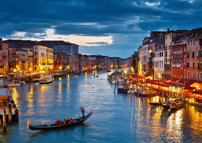 Europe-Italy-Venice-Gondola-Night